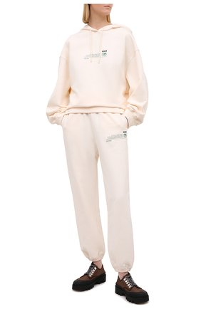 Женский хлопковое худи MSGM светло-бежевого цвета, арт. 3041MDM194 217119 | Фото 2