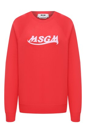 Женский хлопковый свитшот MSGM красного цвета, арт. 3041MDM174 217299 | Фото 1