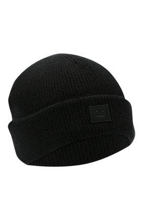 Мужская шерстяная шапка ACNE STUDIOS черного цвета, арт. C40134/M | Фото 1
