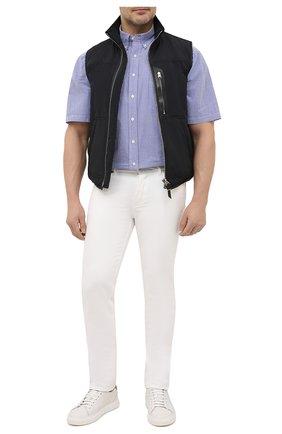 Мужская хлопковая рубашка POLO RALPH LAUREN голубого цвета, арт. 711833828/5103A/PRL BS | Фото 2