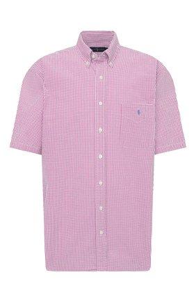 Мужская хлопковая рубашка POLO RALPH LAUREN розового цвета, арт. 711833828/5103D/PRL BS | Фото 1