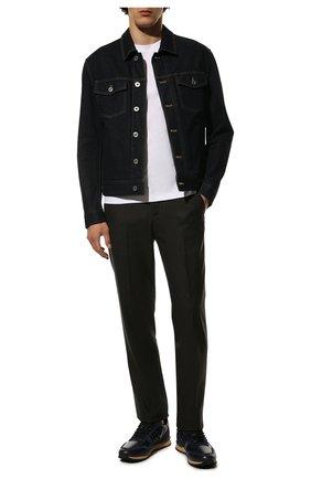 Мужские кожаные кроссовки rockstud VALENTINO темно-синего цвета, арт. VY2S0748/VRJ | Фото 2
