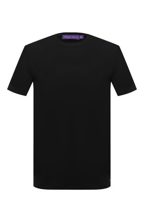 Мужская хлопковая футболка RALPH LAUREN черного цвета, арт. 790508153   Фото 1 (Длина (для топов): Стандартные; Принт: Без принта; Материал внешний: Хлопок; Стили: Кэжуэл; Рукава: Короткие)