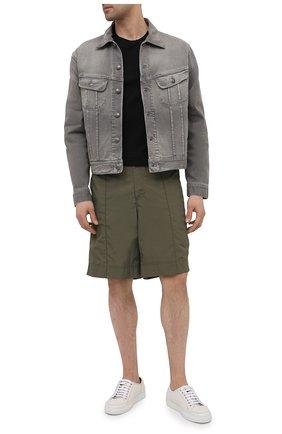 Мужская хлопковая футболка RALPH LAUREN черного цвета, арт. 790508153   Фото 2 (Длина (для топов): Стандартные; Принт: Без принта; Материал внешний: Хлопок; Стили: Кэжуэл; Рукава: Короткие)