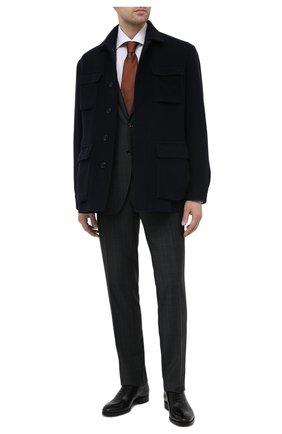 Мужские кожаные оксфорды BRIONI черного цвета, арт. QEH20L/P6757 | Фото 2
