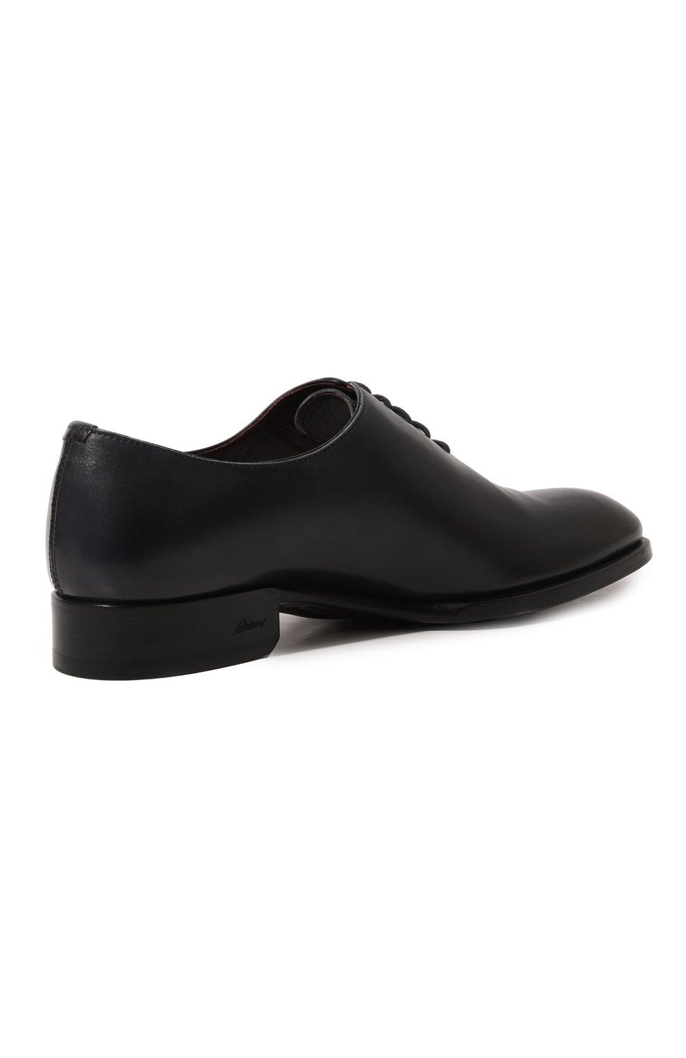 Мужские кожаные оксфорды BRIONI темно-синего цвета, арт. QEF70L/P6757   Фото 5