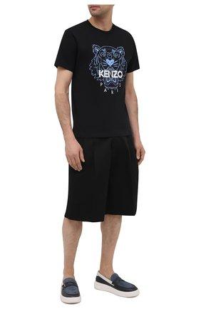 Мужская хлопковая футболка KENZO черного цвета, арт. FB55TS0204YA | Фото 2
