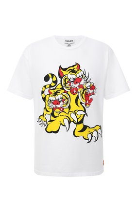 Мужская хлопковая футболка kenzo x kansai yamamoto KENZO белого цвета, арт. FB55TS0714SJ | Фото 1