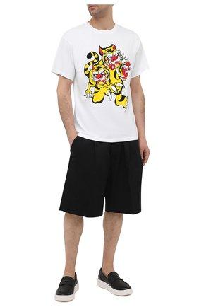 Мужская хлопковая футболка kenzo x kansai yamamoto KENZO белого цвета, арт. FB55TS0714SJ | Фото 2