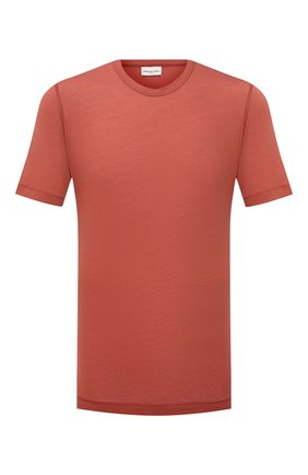 Мужская хлопковая футболка DRIES VAN NOTEN коричневого цвета, арт. 211-21102-2607 | Фото 1