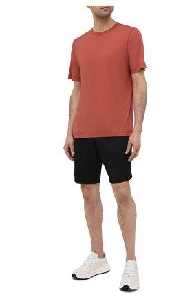 Мужская хлопковая футболка DRIES VAN NOTEN коричневого цвета, арт. 211-21102-2607 | Фото 2