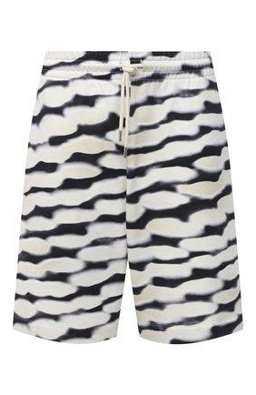 Мужские хлопковые шорты DRIES VAN NOTEN черно-белого цвета, арт. 211-21114-2611   Фото 1