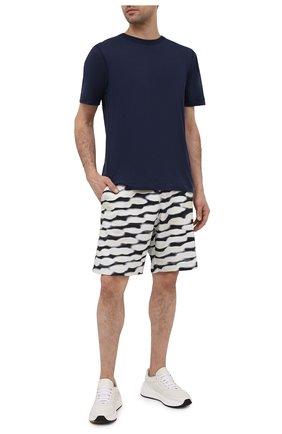 Мужские хлопковые шорты DRIES VAN NOTEN черно-белого цвета, арт. 211-21114-2611   Фото 2