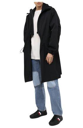 Мужские кожаные кеды new monaco MONCLER черного цвета, арт. G1-09A-4M714-40-01A9A | Фото 2 (Подошва: Массивная; Материал внутренний: Натуральная кожа)