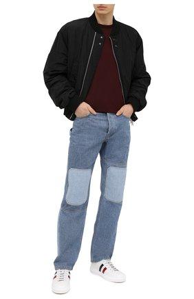 Мужские кожаные кеды new monaco MONCLER белого цвета, арт. G1-09A-4M714-40-01A9A | Фото 2