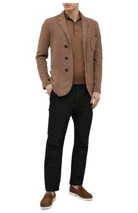 Мужские замшевые пенни-лоферы TOM FORD светло-коричневого цвета, арт. J1293T-LCL029 | Фото 2