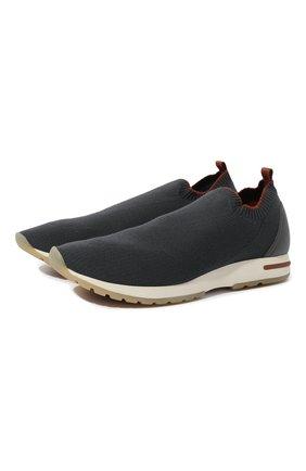 Мужские текстильные кроссовки 360 lp flexy active LORO PIANA темно-серого цвета, арт. FAI4815 | Фото 1