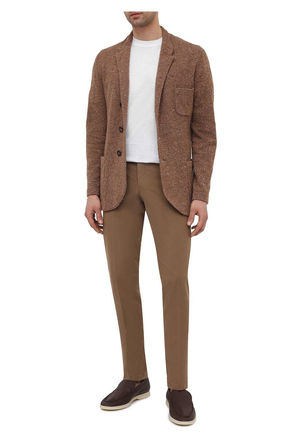 Мужские кожаные лоферы summer walk LORO PIANA коричневого цвета, арт. FAI1528   Фото 2