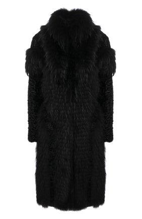 Женская шуба из меха каракуля и енота COLOR TEMPERATURE черного цвета, арт. Екар-1/48 | Фото 1