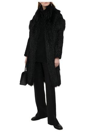 Женская шуба из меха каракуля и енота COLOR TEMPERATURE черного цвета, арт. Екар-1/48 | Фото 2