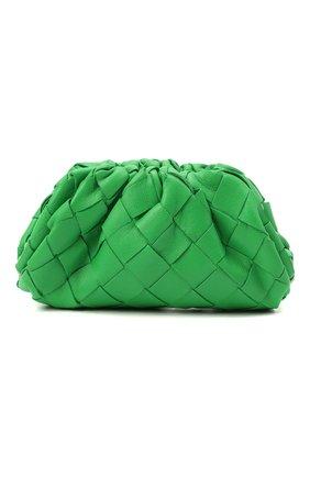 Женские кожаный кошелек BOTTEGA VENETA зеленого цвета, арт. 577816/VCPP1   Фото 1