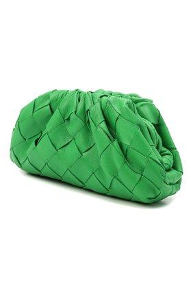 Женские кожаный кошелек BOTTEGA VENETA зеленого цвета, арт. 577816/VCPP1   Фото 2
