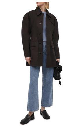 Женский хлопковый пуловер BRUNELLO CUCINELLI голубого цвета, арт. M19197400 | Фото 2