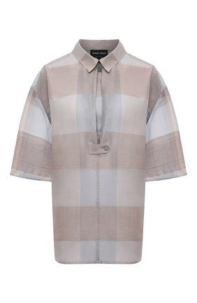 Женская шелковая блузка GIORGIO ARMANI бежевого цвета, арт. 1SHCCZ35/TZ811 | Фото 1