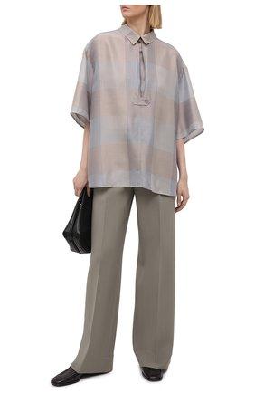 Женская шелковая блузка GIORGIO ARMANI бежевого цвета, арт. 1SHCCZ35/TZ811 | Фото 2