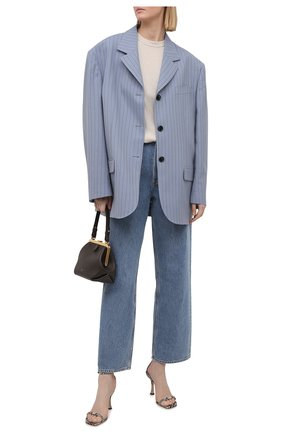 Женские кожаные босоножки marin 90 JIMMY CHOO бежевого цвета, арт. MARIN 90/NKE   Фото 2