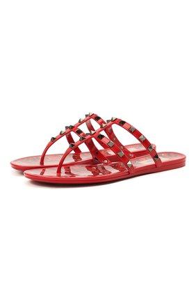 Женские шлепанцы valentino garavani summer rockstud VALENTINO красного цвета, арт. VW2S0T84/HHY | Фото 1