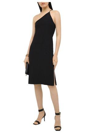 Женские кожаные босоножки  VERSACE JEANS COUTURE черного цвета, арт. E0VWAS70-LINEA F0ND0 EMILY DIS. S70/71977 | Фото 2