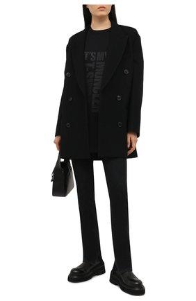 Женская хлопковая футболка MONCLER черного цвета, арт. G1-093-8C7A2-10-829HP | Фото 2