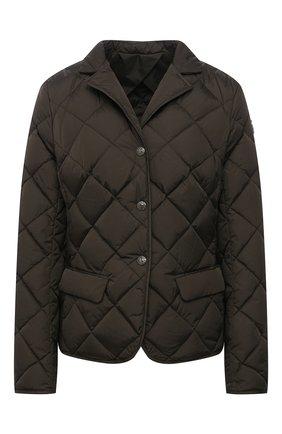 Женская пуховая куртка MONCLER хаки цвета, арт. G1-093-1A52Y-00-539YH | Фото 1