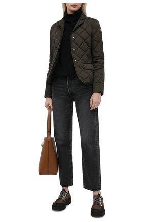 Женская пуховая куртка MONCLER хаки цвета, арт. G1-093-1A52Y-00-539YH | Фото 2