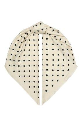 Женская шаль из шелка и шерсти VALENTINO черно-белого цвета, арт. VW2EB104/GDL   Фото 1