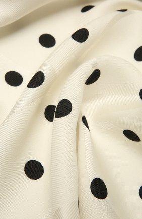 Женская шаль из шелка и шерсти VALENTINO черно-белого цвета, арт. VW2EB104/GDL   Фото 2