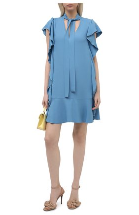 Женское платье REDVALENTINO голубого цвета, арт. VR3VAW95/0F1 | Фото 2