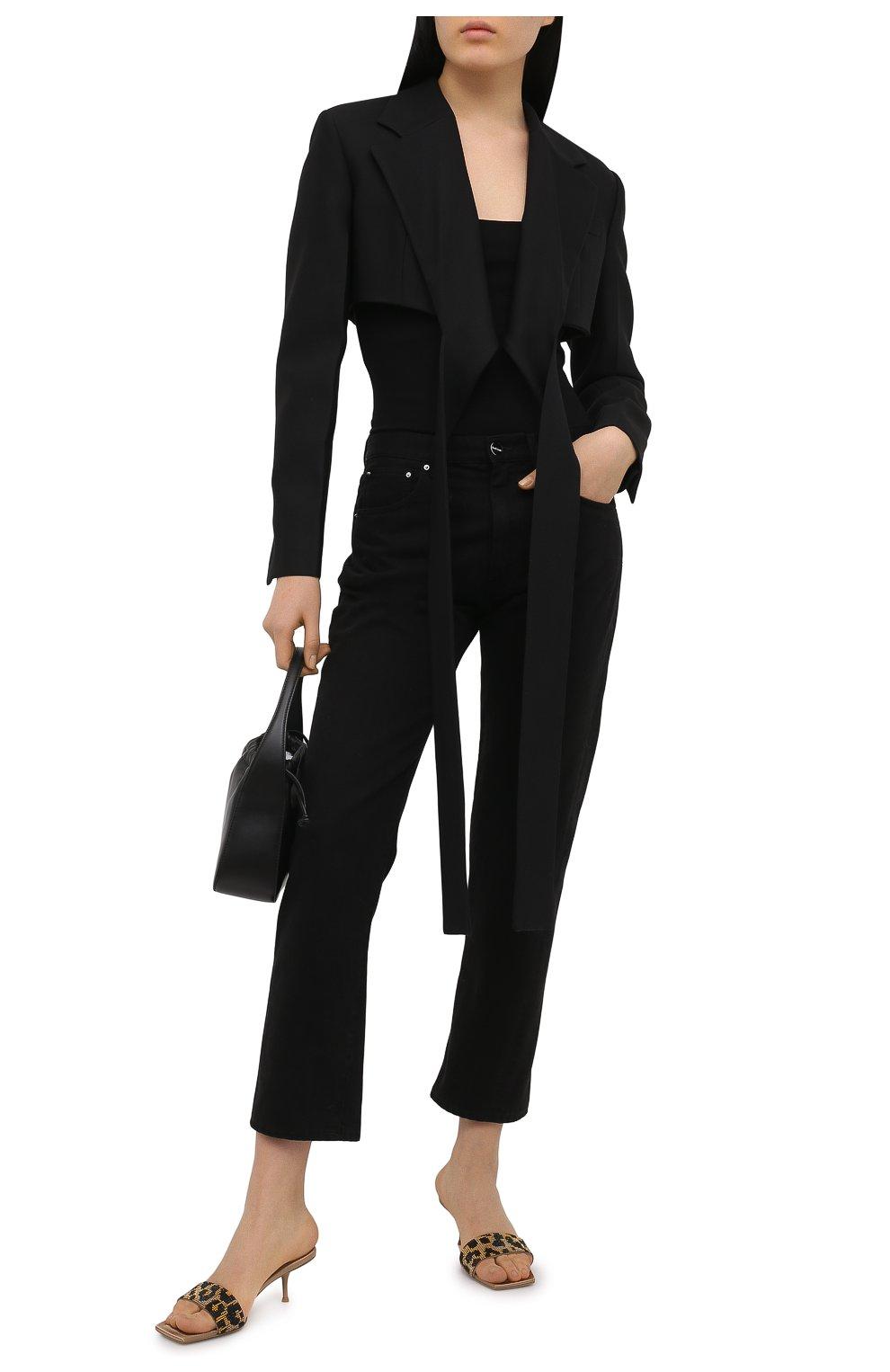 Женские кожаные мюли ALEXANDER WANG коричневого цвета, арт. 30C220S033 | Фото 2