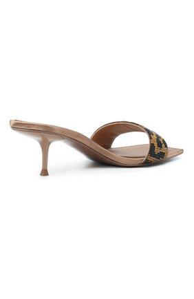 Женские кожаные мюли ALEXANDER WANG коричневого цвета, арт. 30C220S033 | Фото 4