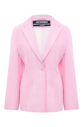 Женский жакет из вискозы и шелка JACQUEMUS розового цвета, арт. 211JA02/105440 | Фото 1