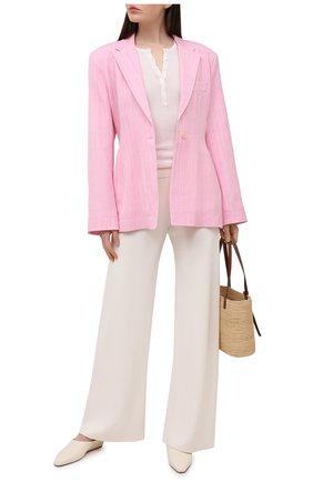 Женский жакет из вискозы и шелка JACQUEMUS розового цвета, арт. 211JA02/105440 | Фото 2