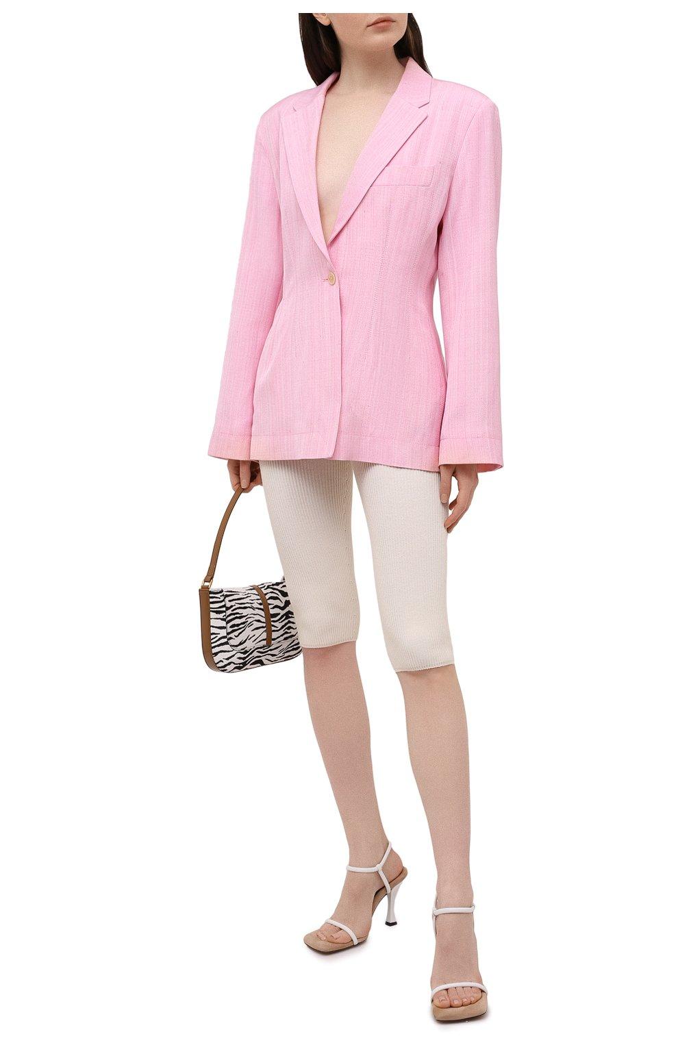 Женские шорты из вискозы JACQUEMUS светло-бежевого цвета, арт. 211KN12/204801 | Фото 2
