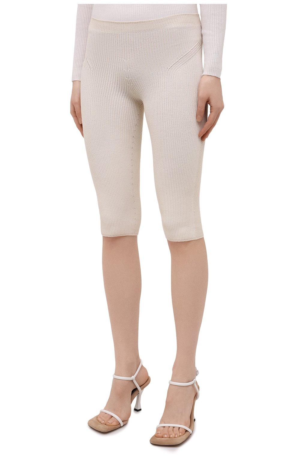 Женские шорты из вискозы JACQUEMUS светло-бежевого цвета, арт. 211KN12/204801 | Фото 3