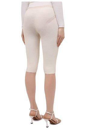 Женские шорты из вискозы JACQUEMUS светло-бежевого цвета, арт. 211KN12/204801 | Фото 4
