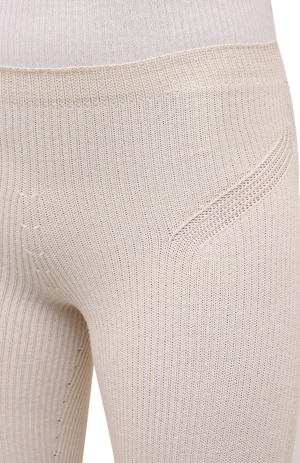 Женские шорты из вискозы JACQUEMUS светло-бежевого цвета, арт. 211KN12/204801 | Фото 5