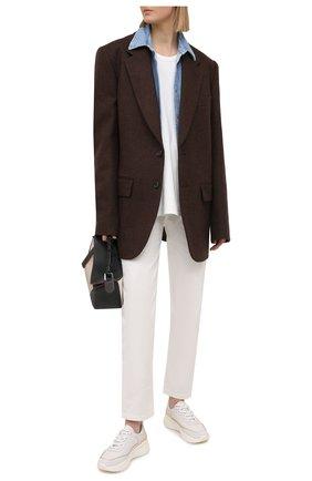 Женские кожаные кроссовки biara BALLY белого цвета, арт. BIARA/07 | Фото 2