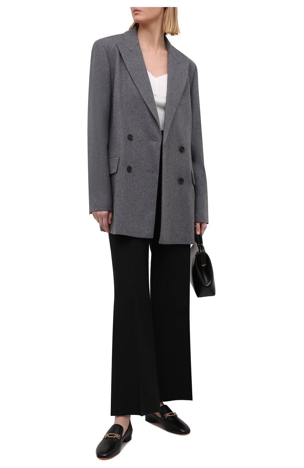 Женские кожаные лоферы darcie BALLY черного цвета, арт. DARCIE FLAT/200 | Фото 2