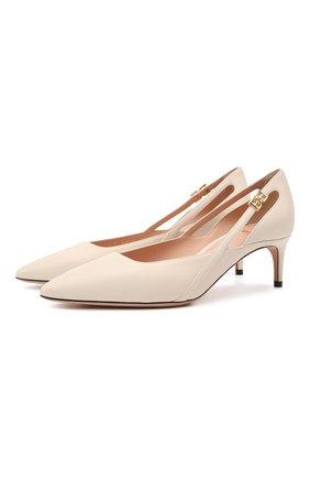 Женские кожаные туфли elsa 55 BALLY белого цвета, арт. ELSA 55/08 | Фото 1
