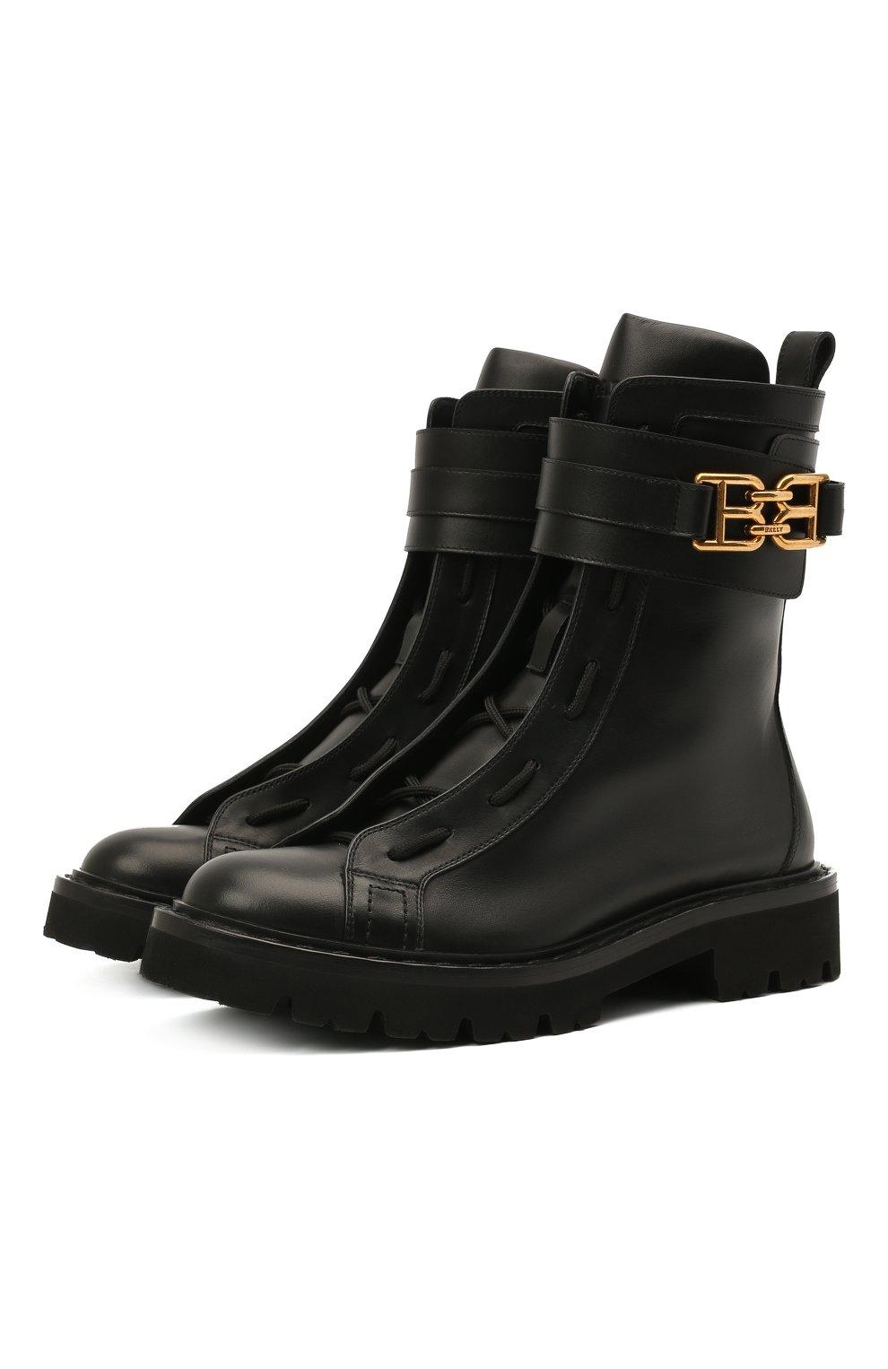 Женские кожаные ботинки glaris BALLY черного цвета, арт. GLARIS/00 | Фото 1